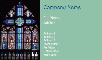 Stained Glass Business Card Template